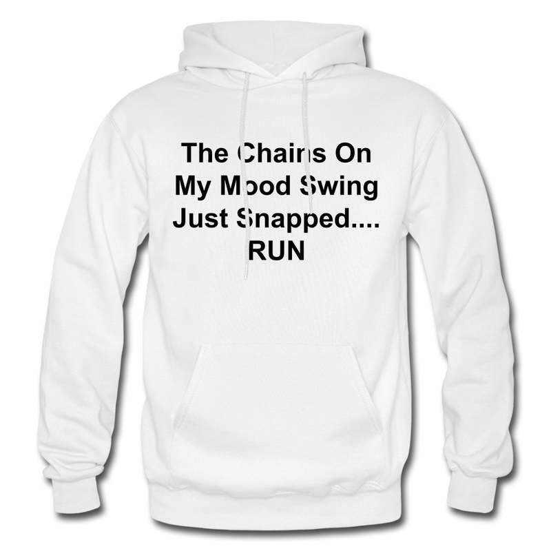 The Chains On My Mood Swing Heavy Blend Adult Hoodie - white