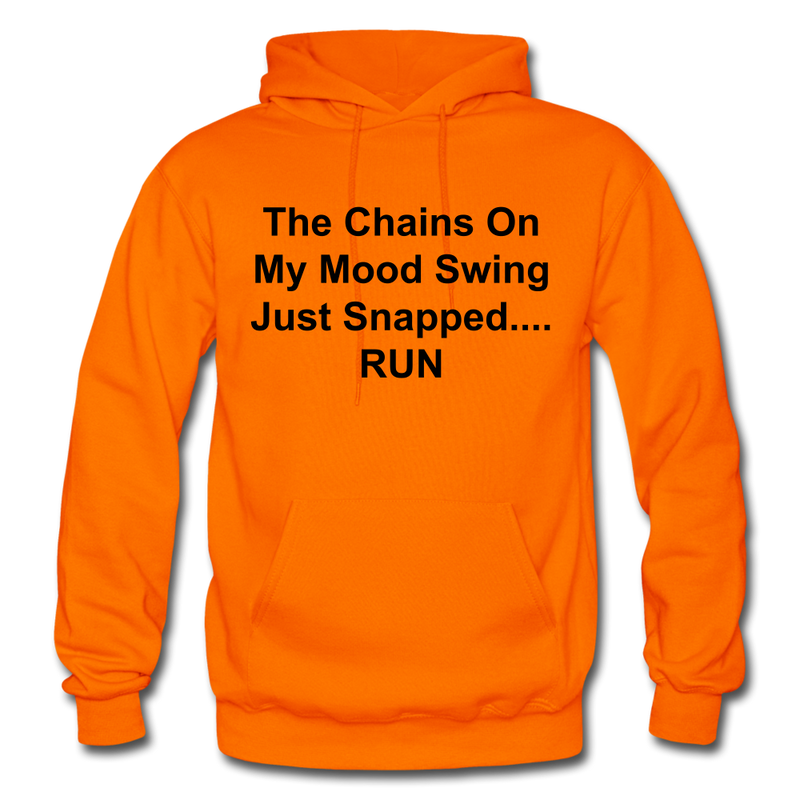 The Chains On My Mood Swing Heavy Blend Adult Hoodie - orange
