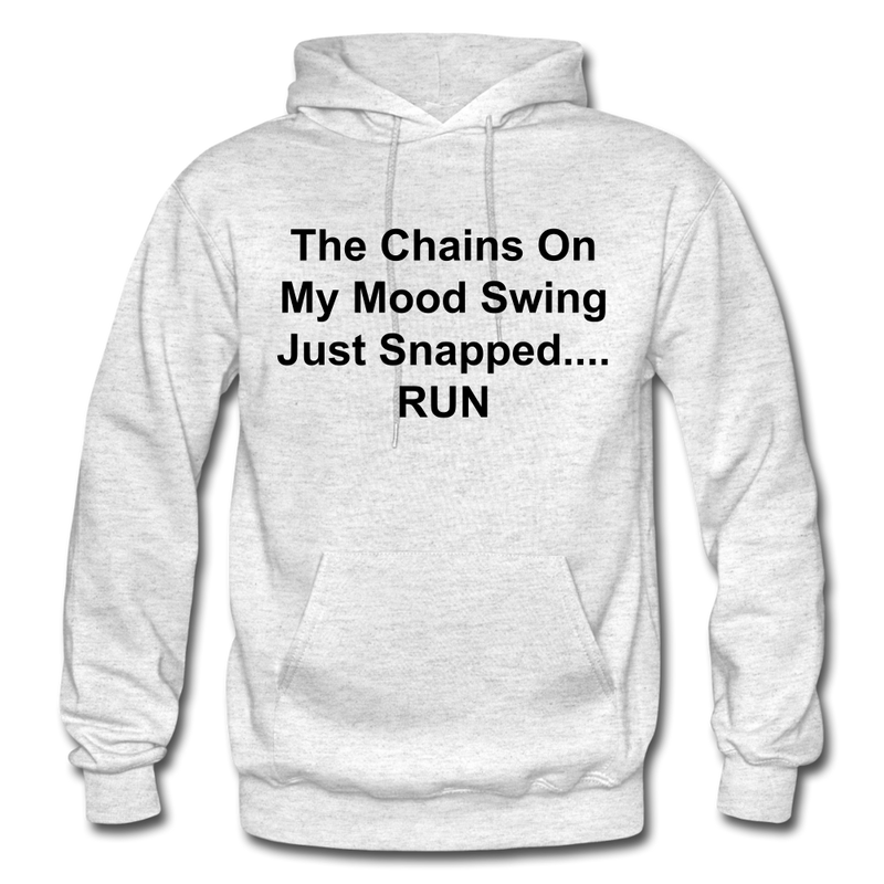 The Chains On My Mood Swing Heavy Blend Adult Hoodie - light heather gray