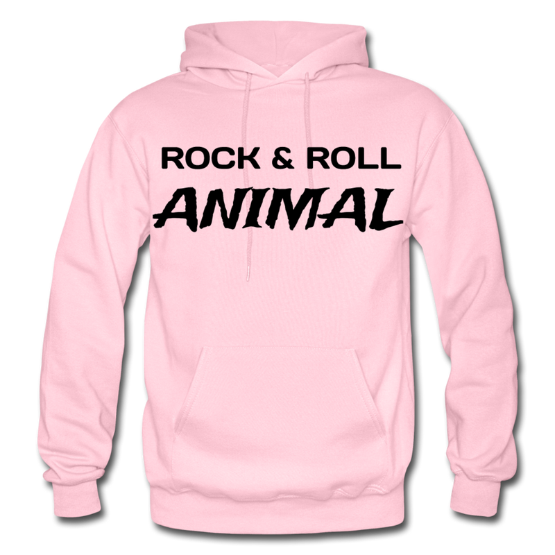 Rock & Roll Animal Heavy Blend Adult Hoodie - light pink