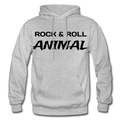 Rock & Roll Animal Heavy Blend Adult Hoodie - heather gray