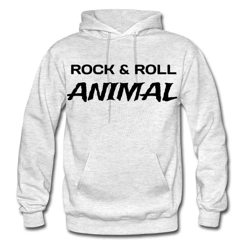 Rock & Roll Animal Heavy Blend Adult Hoodie - light heather gray