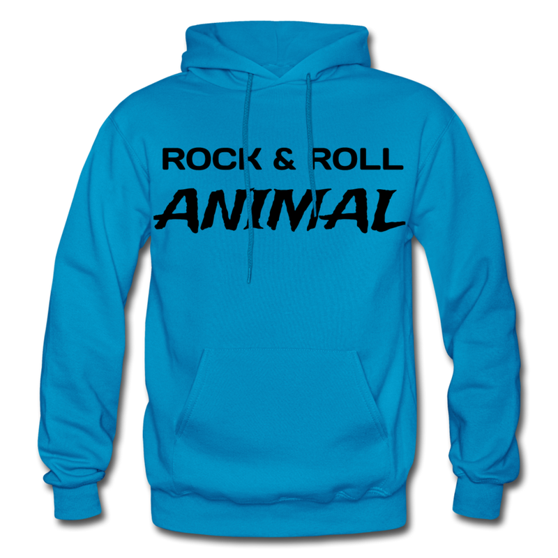 Rock & Roll Animal Heavy Blend Adult Hoodie - turquoise
