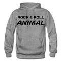 Rock & Roll Animal Heavy Blend Adult Hoodie - graphite heather