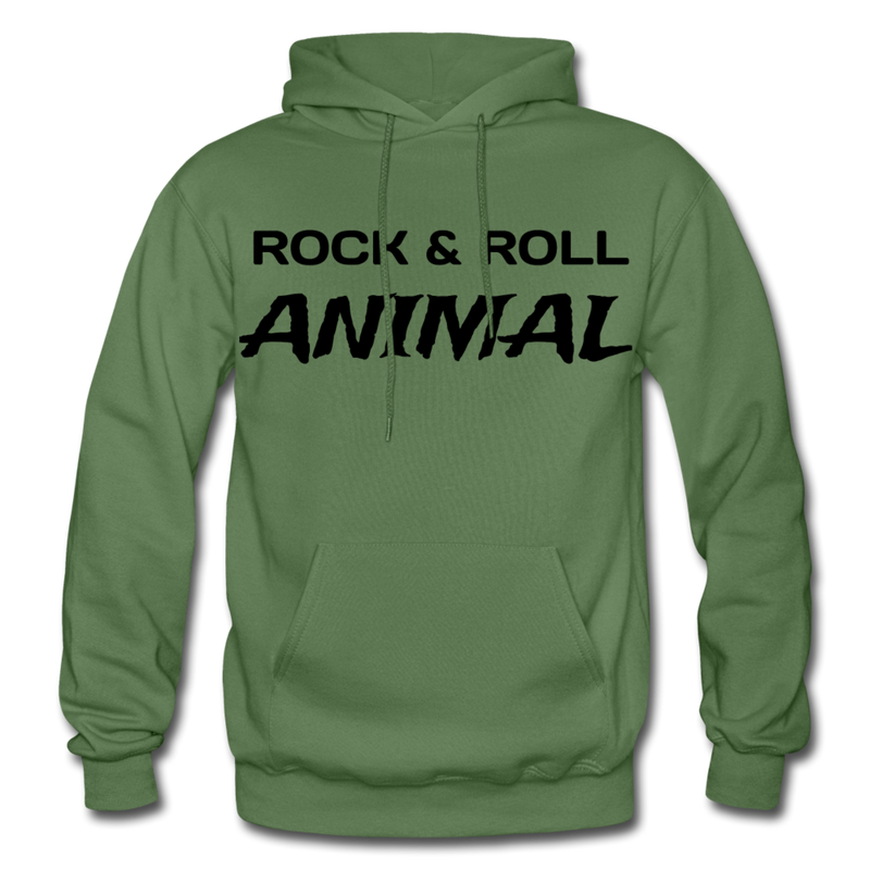 Rock & Roll Animal Heavy Blend Adult Hoodie - military green