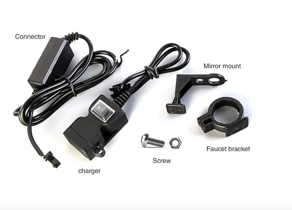 Motorcycle Phone Charger USB Waterproof Port