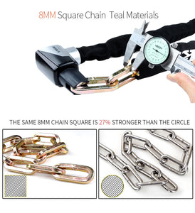 Motorcycle Chain Lock Security 12 Ton Hydraulic