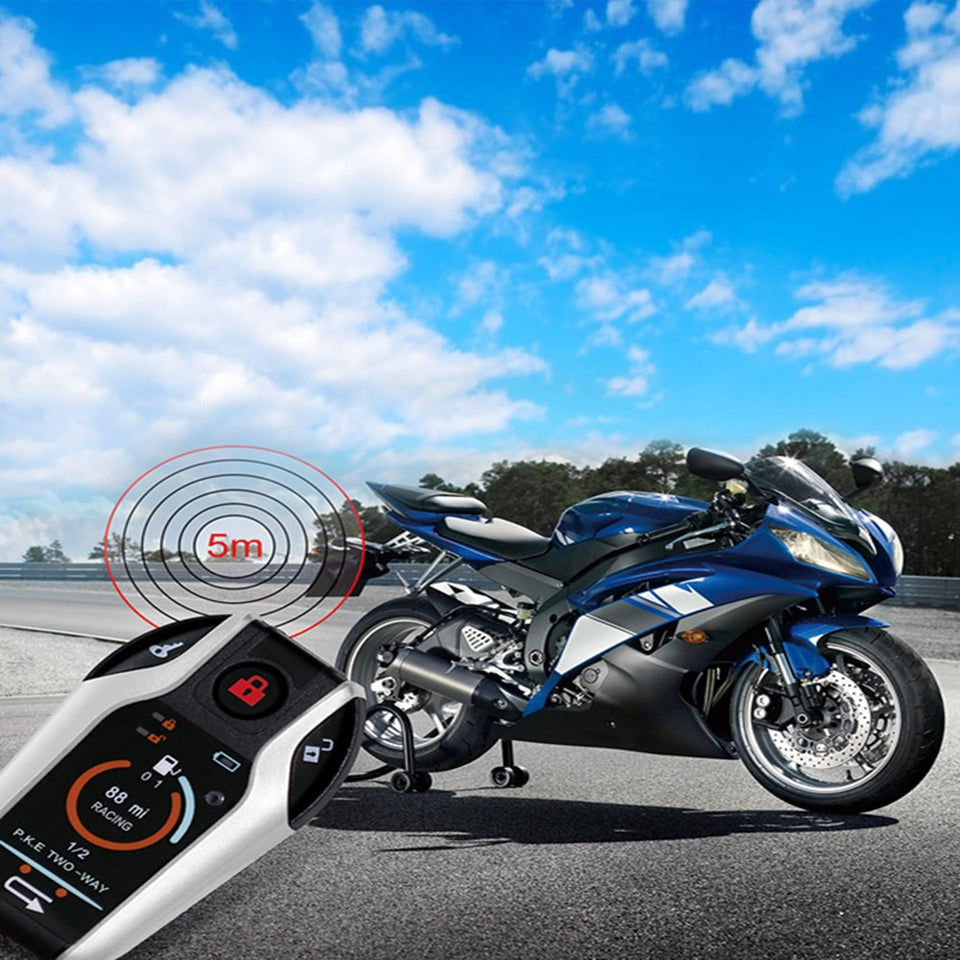 Motorcycle Smart Key Alarm Device Anti-theft System