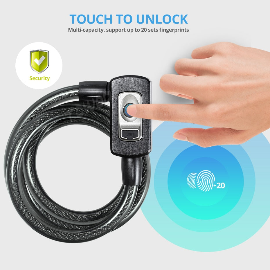 Anti-Theft Smart Fingerprint Motorcycle Lock