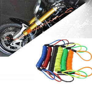 Motorcycle Disc Lock Security Reminder Anti-theft Rope Cable
