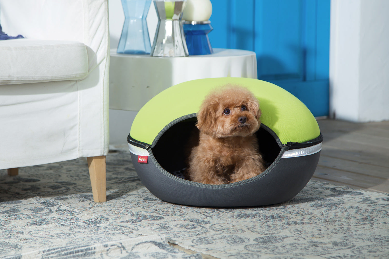 The Little Arena Pet Cave & Bed By Ibiyaya - Green FB1308-G