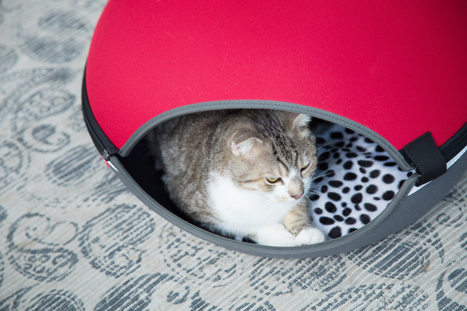 The Little Arena Pet Cave & Bed By Ibiyaya - Red FB1308-R