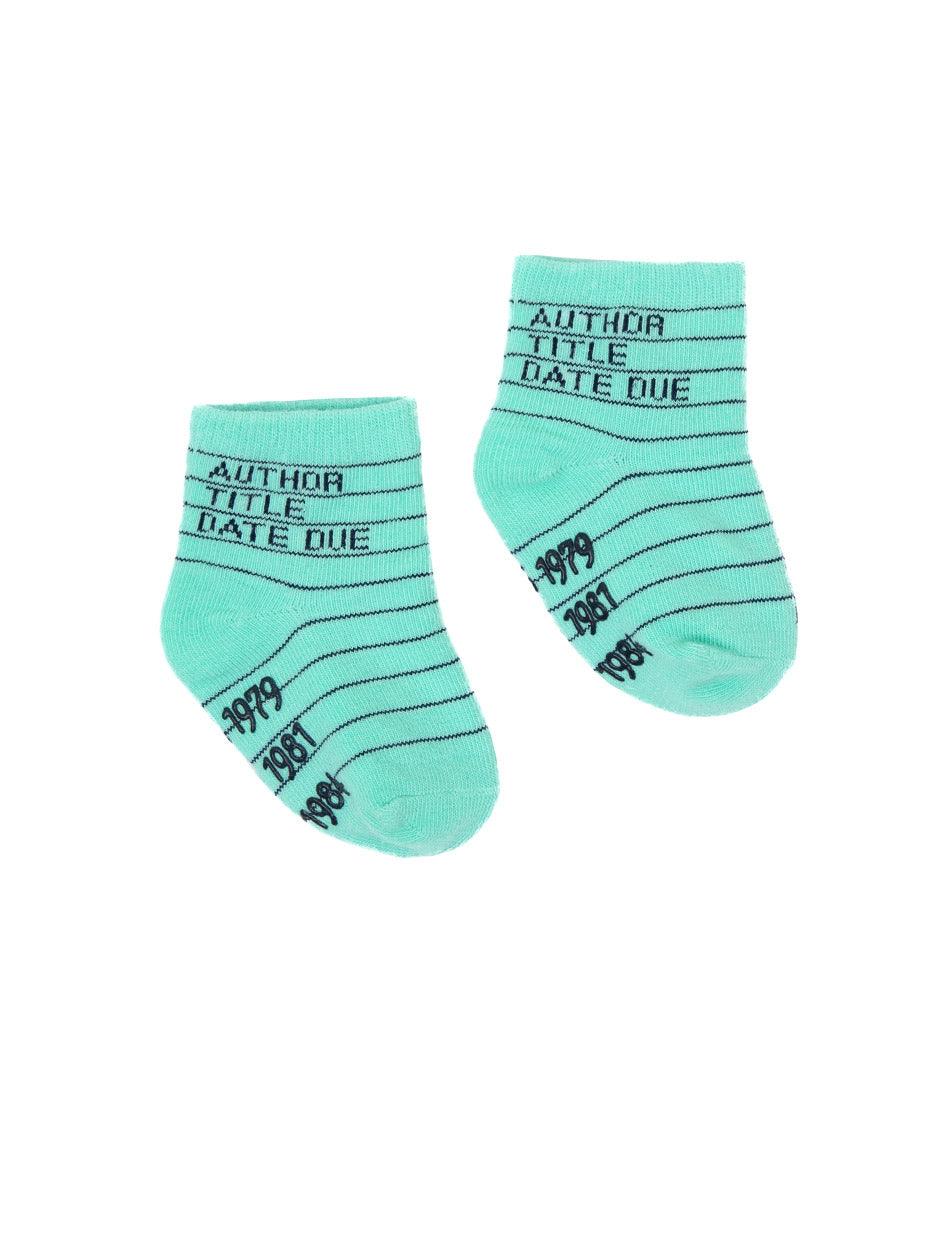 Library Card Socks - Baby & Toddler Sizes