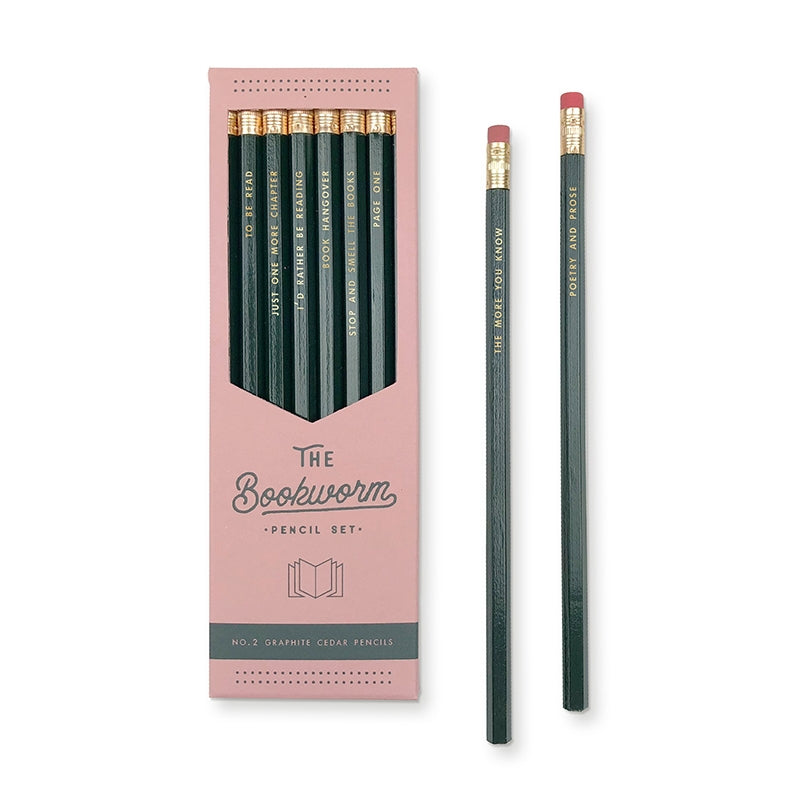 Bookworm Pencil Set