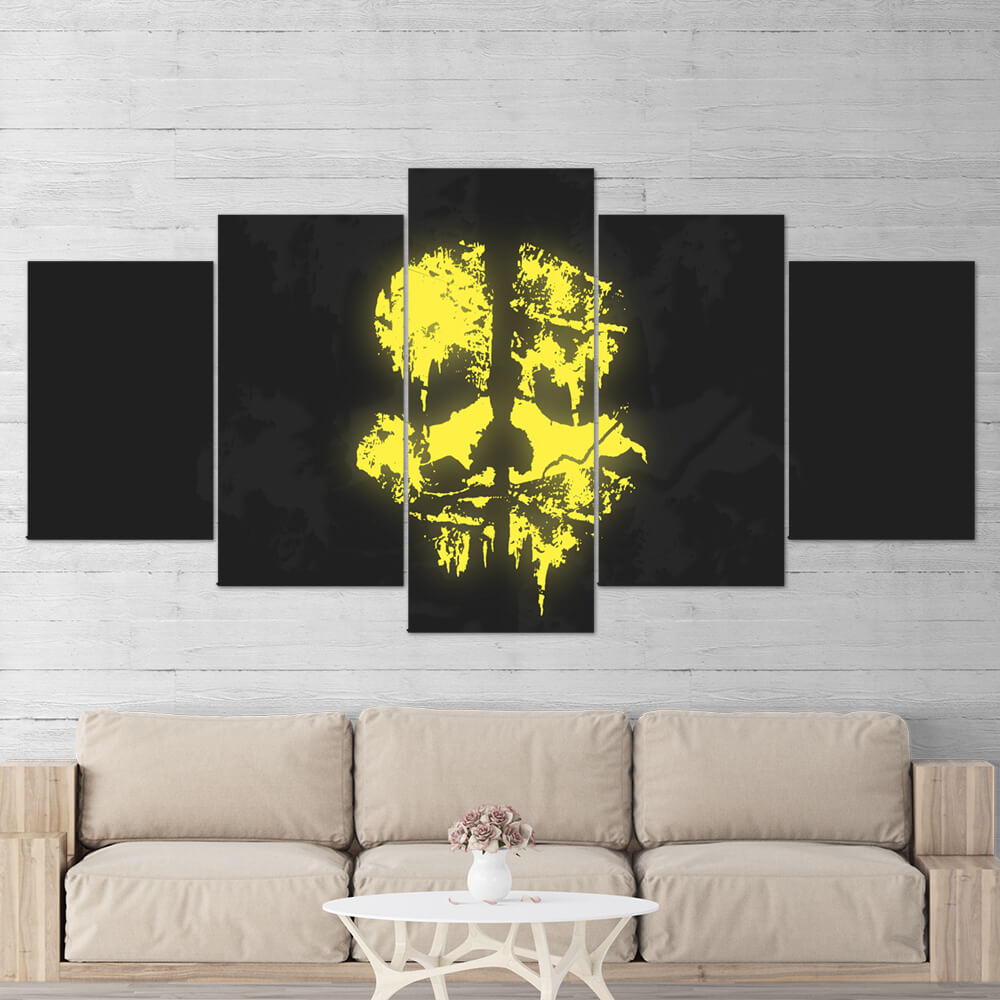 Call of Duty Ghosts Skull Wall Art Canvas