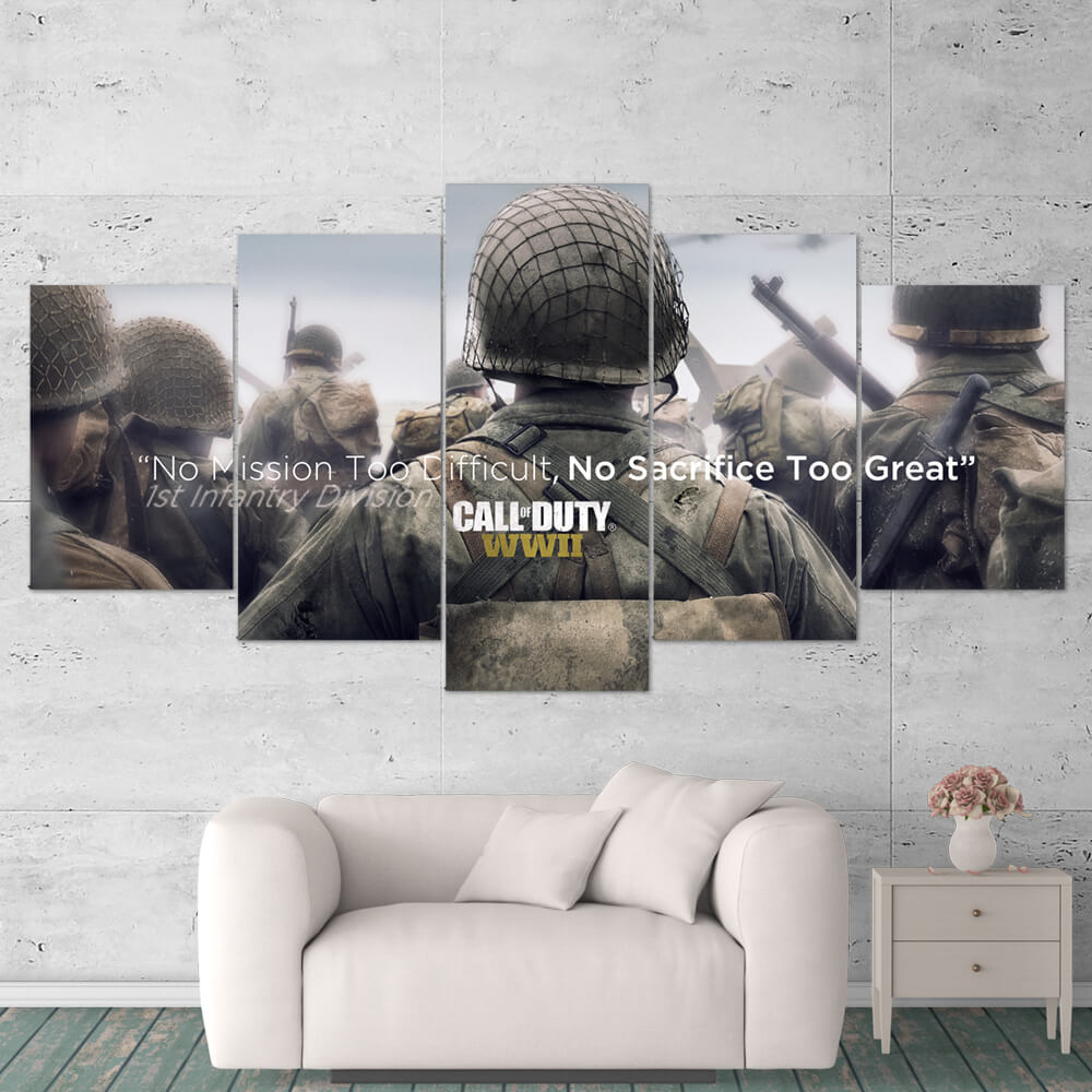 Call of Duty WWII Wall Art Canvas