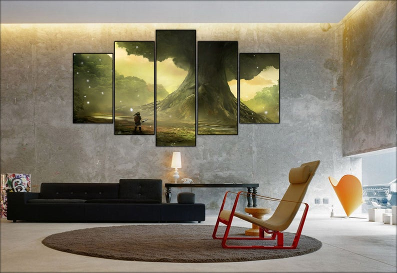 The Legend Of Zelda Ocarina Of Time Wall Canvas