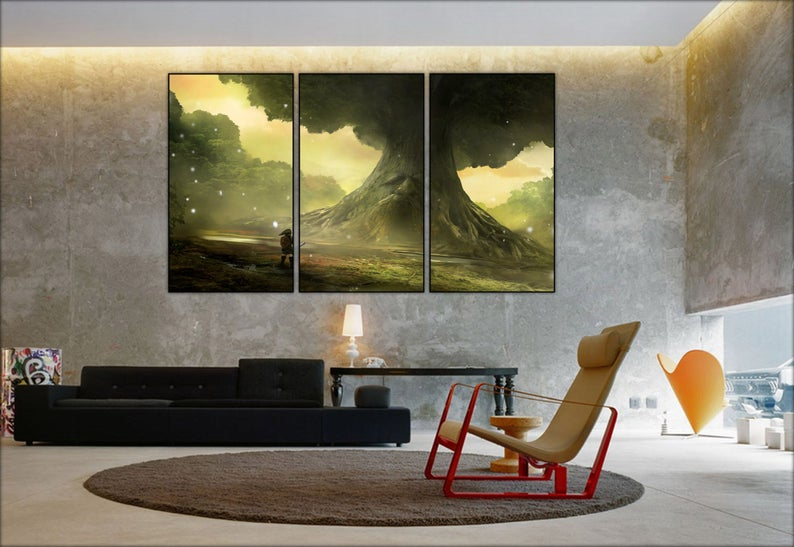 The Legend Of Zelda Ocarina Of Time Wall Canvas 3