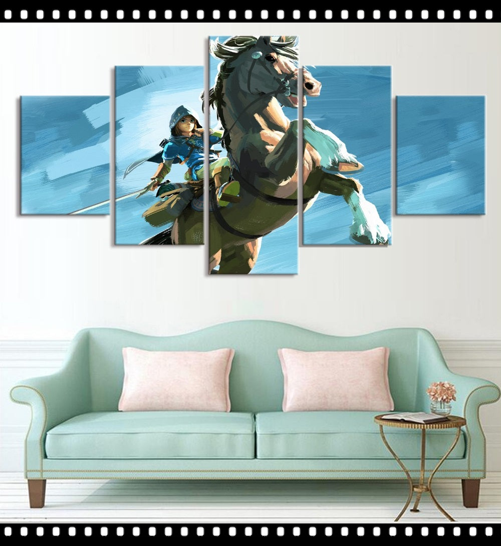 The Legend of Zelda Breath of the Wild Link Wall Art Canvas 3