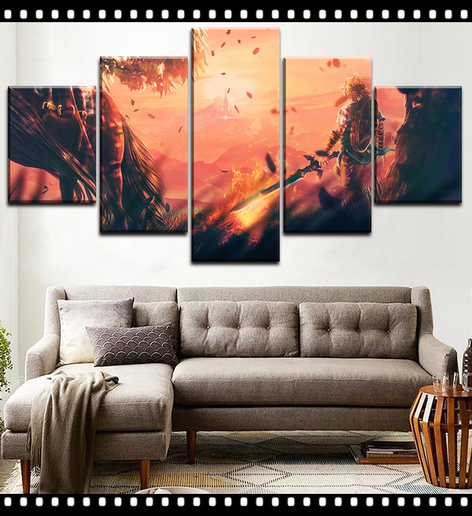 The Legend of Zelda Breath of the Wild Wall Art Canvas