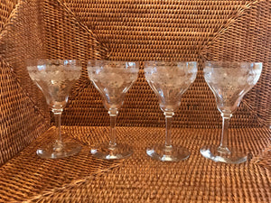Vintage Cordial Glasses - Set 4