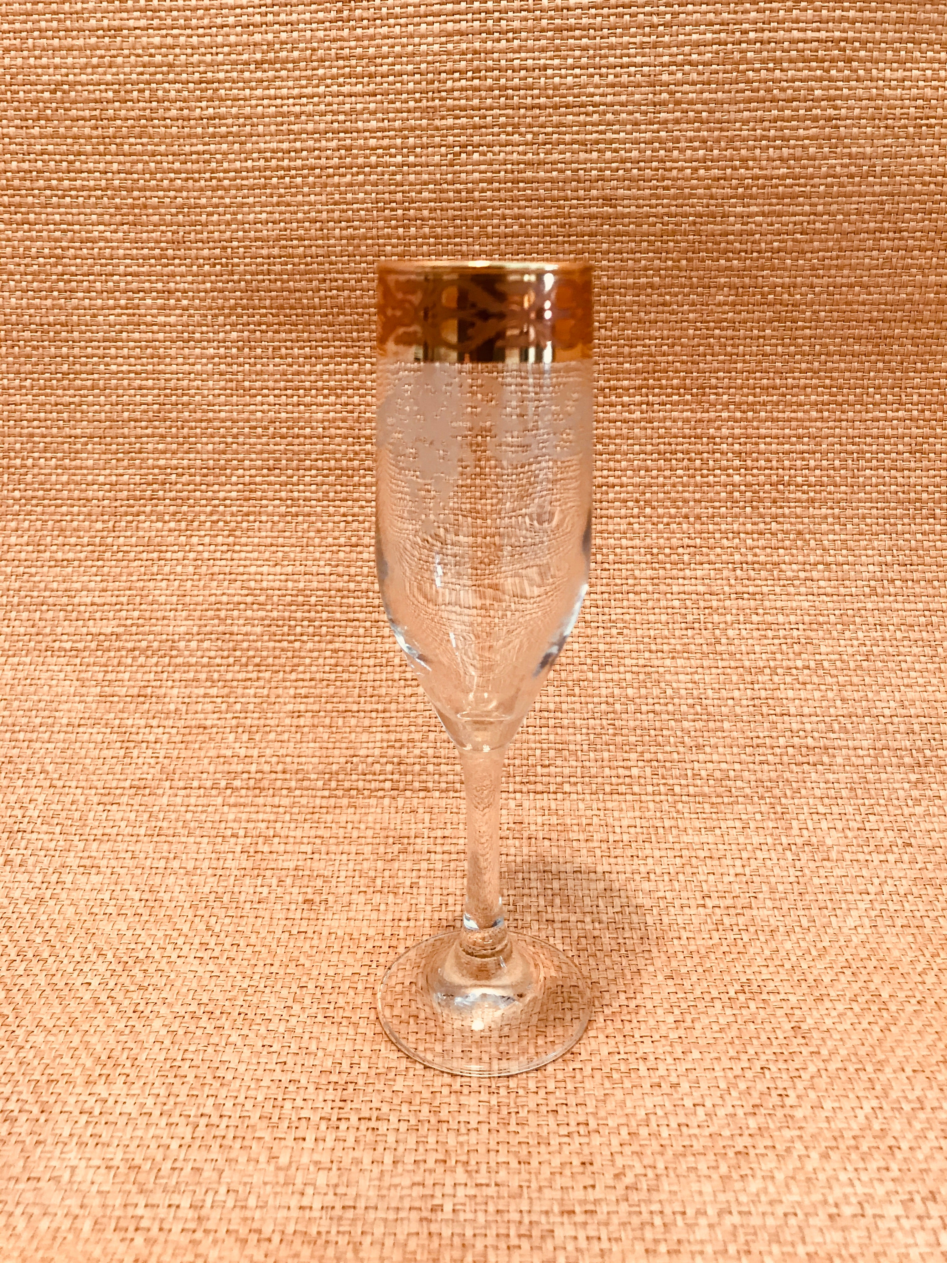 Vintage Ornate Champagne Flutes - Set 4