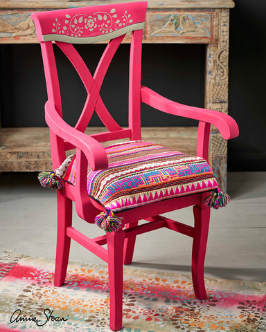 indian inspired pink chair