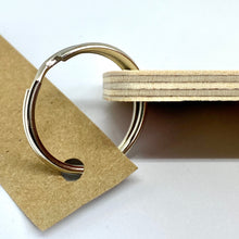 Load image into Gallery viewer, Close up of ring and wooden keyring
