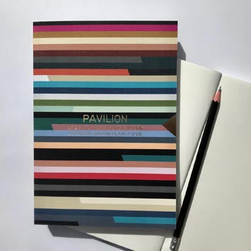 horizontal striped A5 bound notebook