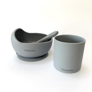 Pipetta Suction Bowl and Spoon - Grey