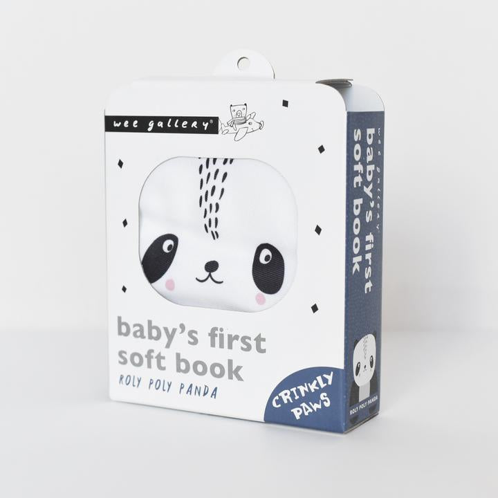 Wee Gallery Soft Cloth Book - Roly Poly Panda