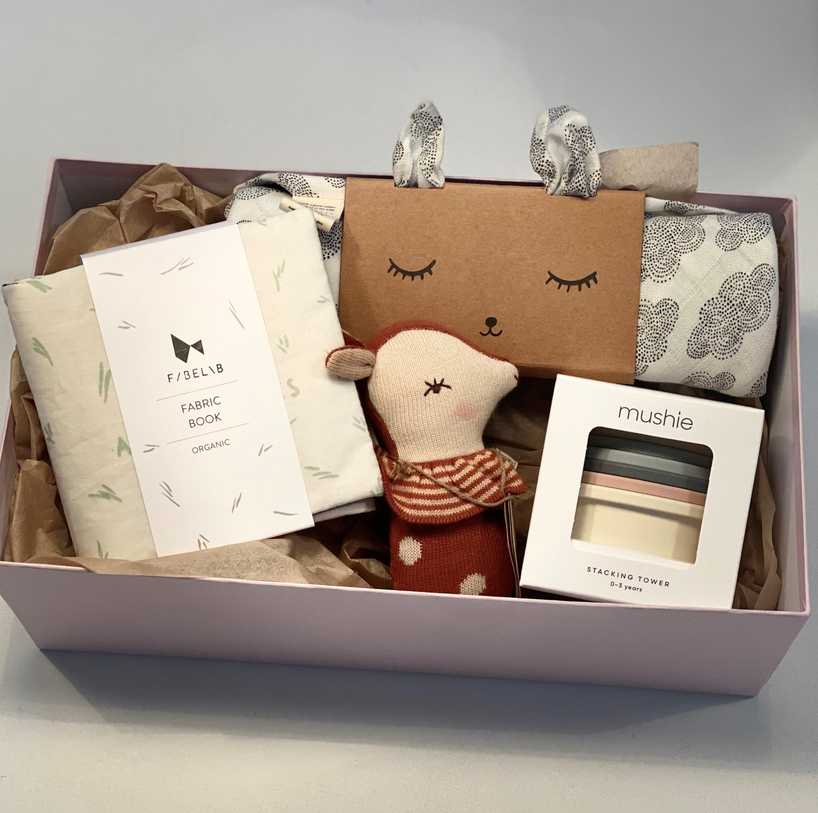 Roo and Moo gift Box - new baby option 1