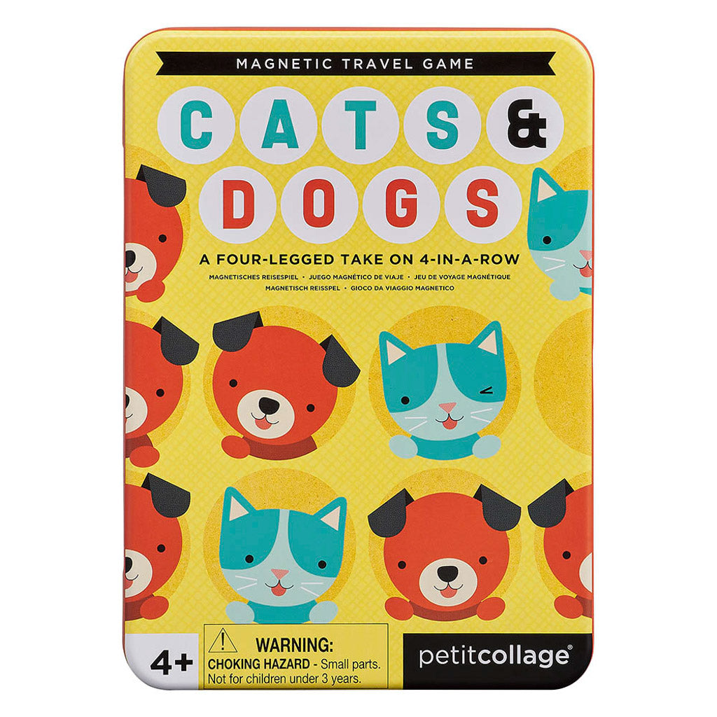 Petit Collage - Magnetic Travel Game - Cats and Dogs Four in a row
