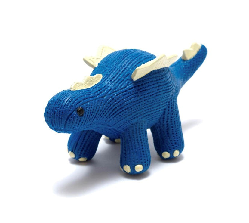 Natural Rubber Stegosaurus Teether and Bath Toy