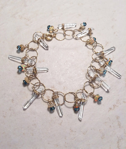 Icicles in Sunlight Crystal  Bracelet