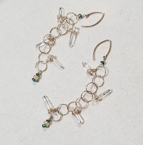 Icicles in Sunlight Earrings