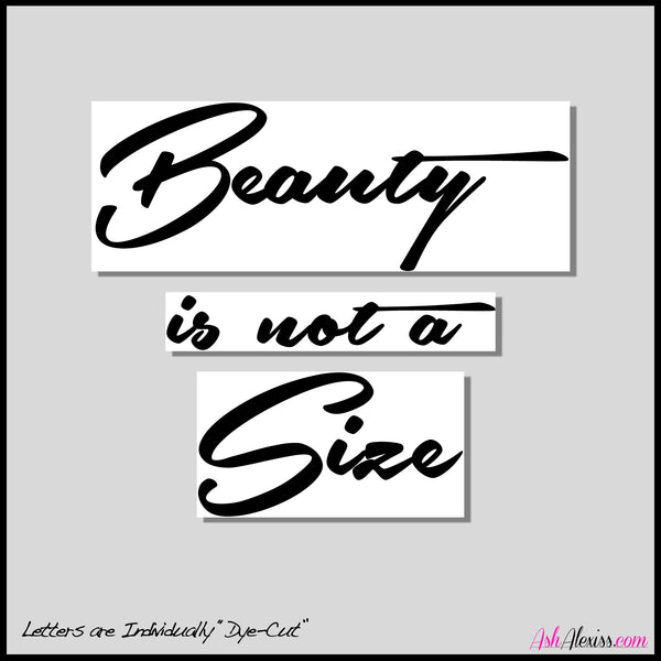 """Beauty Is Not A Size"" Large Wall Decal"