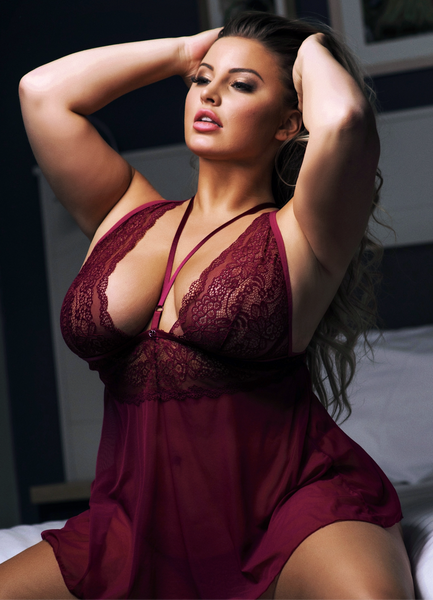 Ashley's Personal Wine Babydoll & Thong