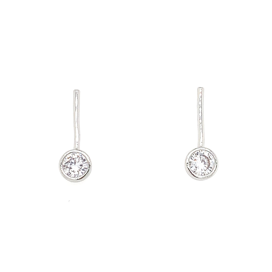 CZ Straight Drop Earrings