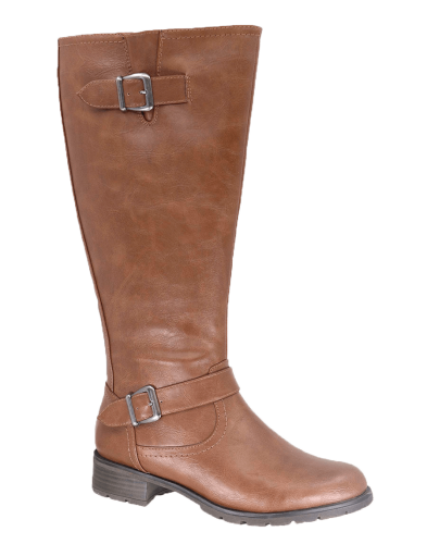 Vegan Leather Athletic Calf Boots