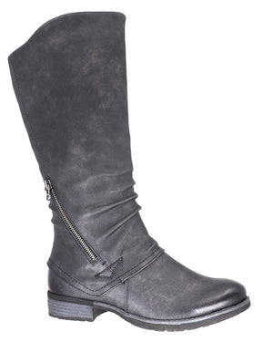 Ally Vegan Leather Mid Calf Taxi Boot