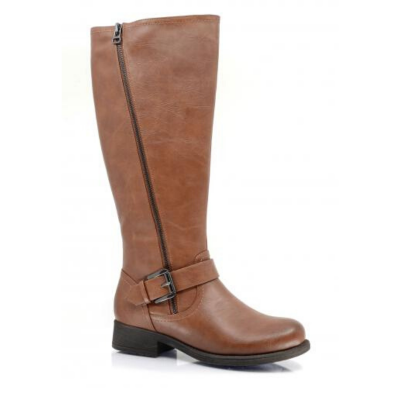 Adele Vegan Leather Athletic Calf Waterproof Tall Boot by Taxi in Tan (Adele-03WP)