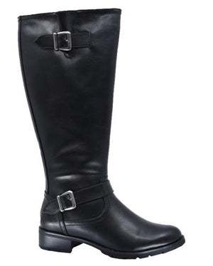 Amber Vegan Leather Wide Calf Taxi Boot