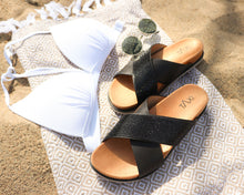 Load image into Gallery viewer, Summer Glitz Cross Over Sandal