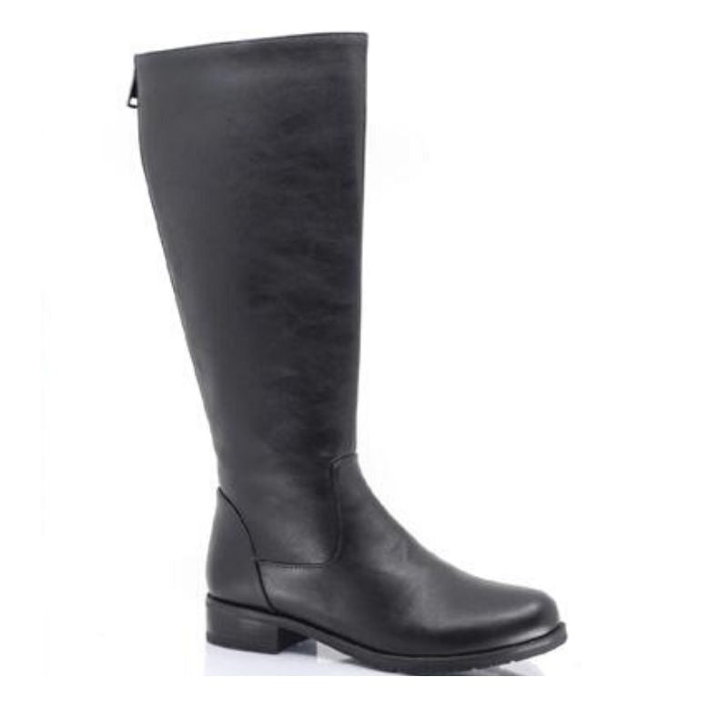 London Vegan Leather Wide Calf Waterproof Taxi Boot