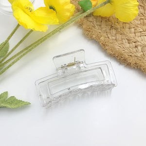 Clear Resin Hair Clips - Large