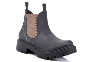 Style Vegan Leather Slip On Short Boots by Extreme