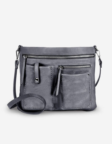 Perfection Vegan Leather Multi Pocket Crossbody Handbag