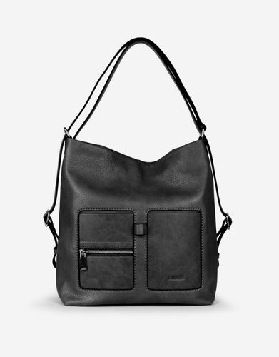 Mulit Option Vegan Leather Convertible Handbag