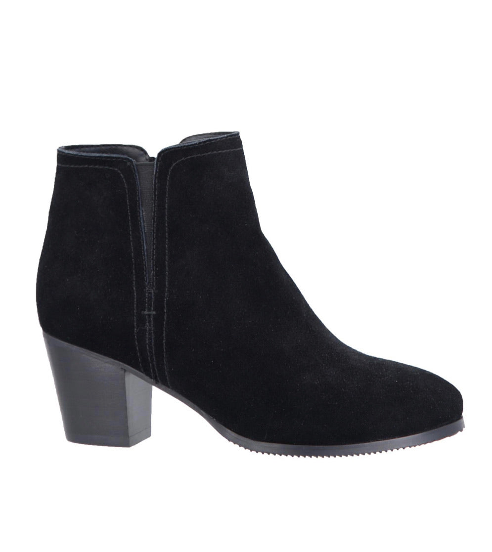Sasha Suede Short Black Boot by Taxi